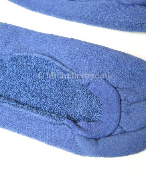 gedragen kousenvoetjes badstof blauw