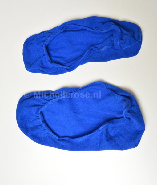 gedragen kousenvoetjes blauw
